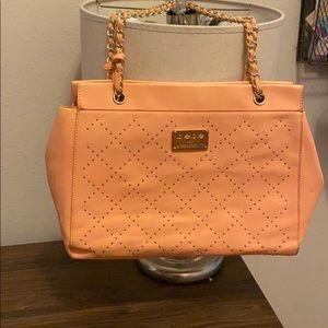 Bebe Peach Shoulder Bag
